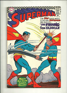 Superman 196 May 1967 Silver age VG+ - Fine some pcs. miss. Clean glossy NEO