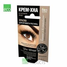 Fito Natural Dye Eyebrows & Eyelashes Henna Cream Color Black 2x2ml (Pack of 5)