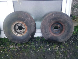 Pair (two) of Ifor Williams DP type steel wheels with 7.50-10 tyres
