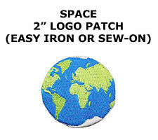 """#5108 2-3/8"""" World Planet Earth Embroidery Iron On Applique Patch"""