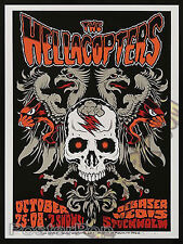 Forbes Hellacopters 2008 Sweden Silkscreen Concert Poster Black Crows AFI Signed