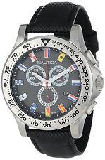 Nautica N19595G Black Nautical Flags Dial Black Rubber Strap Men's Boat Watch