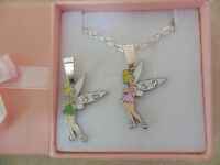Disney Tinkerbell Necklace Silver Plated Gift Box or Gift Bag