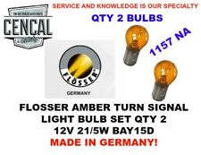 FLOSSER AMBER TURN SIGNAL LIGHT BULB SET QTY 2 12V 21/5W BAY15D  522907