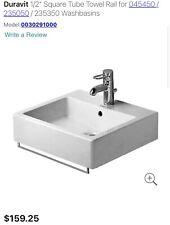 "New listing Duravit 1/2"" Square Tube Towel Rail for 045450 / 235050 / 235350 Washbasins"