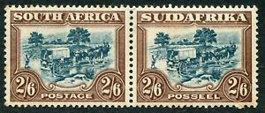 South Africa 1932 roto 2s6d green & brown SG 49 hinged mint (cat. £100)