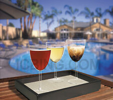 Unbreakable Crystal Clear Plastic Wine Glasses 9 oz Wine Glass Set of 4 + 1 FREE