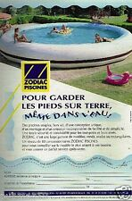 Publicité advertising 1997 Les Piscines Zodiac