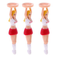 Pack of 3 Golf Tees 70mm Plastic Girl Golf Tees Fun Holder Divot Tools Gift