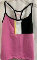 Danskin Now Velocity Sport Colorblick Cami Top Tank Top Women's Size Medium