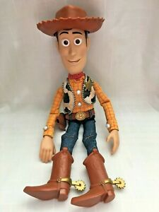 Thinkway Disney Pixar Toy Story Woody Pull String Doll 1995  TALKING - 10 QUOTES
