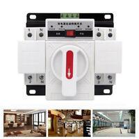 2P 63A AC230V MCB Typ Doppelt Power Automatisch Transfer Schalter Ats 50HZ/60HZ