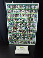 Framed Sheet Of Uncut 1991 Classic NHL Cards - COA - 3335/3500 - 27x37