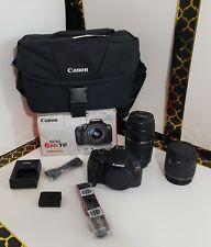 Canon Rebel EOC T6 18MP Digital SLR Camera Premium Kit EF-S 18-55mm + EF75-300mm