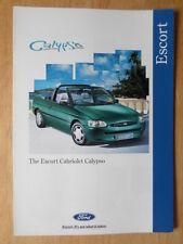 FORD ESCORT CALYPSO CABRIOLET orig 1995 UK Mkt sales brochure