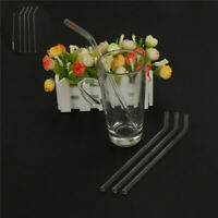 Reusable 4pcs Clear Glass Straws and Water Supplies TO 1 Drinking Brush Party