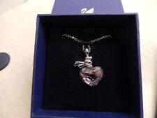Signed Swarovski Necklace Faceted Heart Petite New in Box