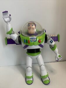 "Thinkway Disney Pixar Toy Story Talking Buzz Lightyear Figure 12"" Tested"