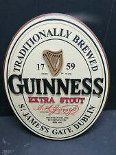 C Old Wood Guinness Beer Bar Sign Solid 3-D Mancave Barware Advertising