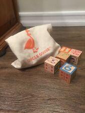 UNCLE GOOSE CLASSIC ABC WOODEN BLOCKS + CANVAS BAG