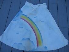 vintage 1970s Rainbow graphic art skirt high waist hippy boho made Usa M 11/12