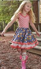 Matilda Jane Work Of Hearts Dress Size 12 NWT Twirl Pink Blue