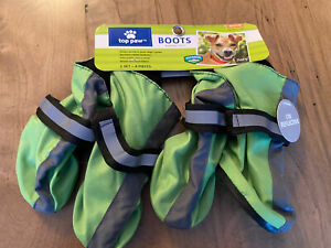 """Dog Boots Top Paw X Small GREEN """"BRAND NEW"""""""