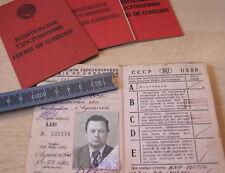 Führerschein Fahrerlaubnis Driver's license UdSSR Sowiet Union Auto Ausweis