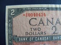 1954 Canada 2 Dollar Replacement Bank Note*OG0040434-VF-EF  20-359