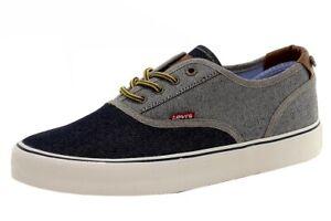 Levi's Men's Rob Denim Canvas Indigo/Reverse Denim Sneakers Shoes Sz: 9