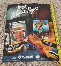 """Nintendo NES 1989 Tradewest Promo Poster / Insert """"Most Valuable Players"""""""