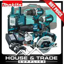 Makita Brushless Tool Combo Kit 6 Piece Cordless + 2x 4.0Ah Batteries & Charger