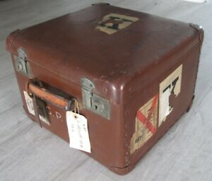 Travel Trunk Vintage Decor Retro Shabby Chic Old Suitcase With Labels