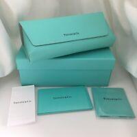 Tiffany & Co Soft Blue Leather Sunglass Eyeglass Case