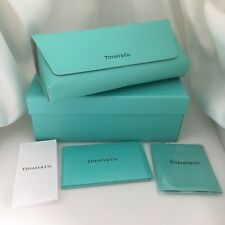 Tiffany & Co Soft Blue Leather Sunglass Eyeglass Case