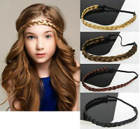 NEW Lady Girl Braided Fairy Bohemian Braid Wig Wedding Beach hair band headband