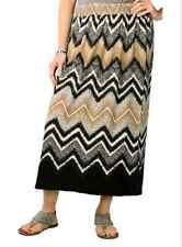 Mlle Gabrielle Stretch  Poly Spandex Blend Smocked Stretch Waistband Skirt S