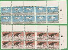 10 Sets of 1961 Netherlands Stamps B353-B357 Cat. Value $73 Cultural Birds