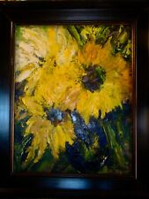 Sunflowers Oil Painting by Renowned Artist Penny Roberson/Limited Edition 16x20