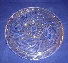 Vintage 13'' Indiana Glass Relish Platter-Divided Server-Oleander Willow Pattern