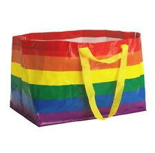 IKEA Rainbow Bag Reusable Shopping Storage STORSTOMMA Gay LGBTQ KVANTING Lot