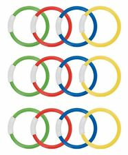 INTEX Underwater Swimming Diving Pool Water Toy Rings 12 Pack, Multiple Colors