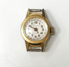 Lucerne 1 Jewel Gold Women's Unique Stone Like Crystal Round Watch
