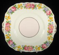Colclough Pink Yellow & Blue Flowers Bone China Cake Plate