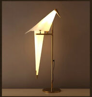 Iron LED Origami Bird Table Lamp Living Room Bedroom Bedside Desk Reading Light