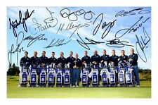 EUROPEAN 2014 RYDER CUP TEAM AUTOGRAPHED SIGNED A4 PP POSTER PHOTO  1