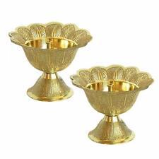 Akhand Diya | Oil/Ghee Lamp | Puja Diya (Set of 2, Brass) (Size- 2 Inch)