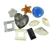 10 Kristall Anhänger Schmuckherstellung Mix Form Bunt Glasperlen 12mm 30mm R336