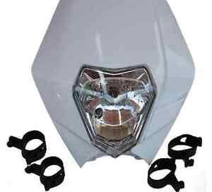White Universal Dirt Bike Headlight For Kawasaki Suzuki Yamaha  KX250F KX DR