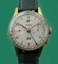 Vintage 40's ANGELUS Chronograph Triple Date Fame CHRONODATO Very Large Watch